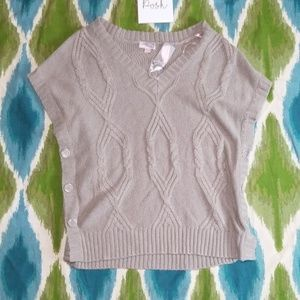 NWT LOVE 21 chunk knot sweaterbutton detail small